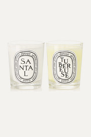 Tubéreuse and Santal set of two scented candles, 2 x 190g