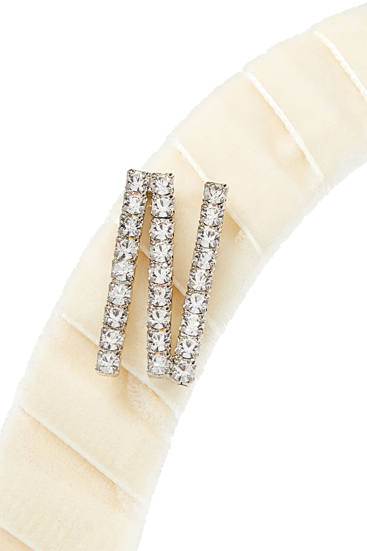 LELET NY Swarovski crystal-embellished velvet headband