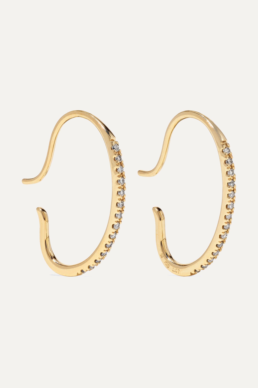Hirotaka Gossamer 10-karat gold diamond earrings