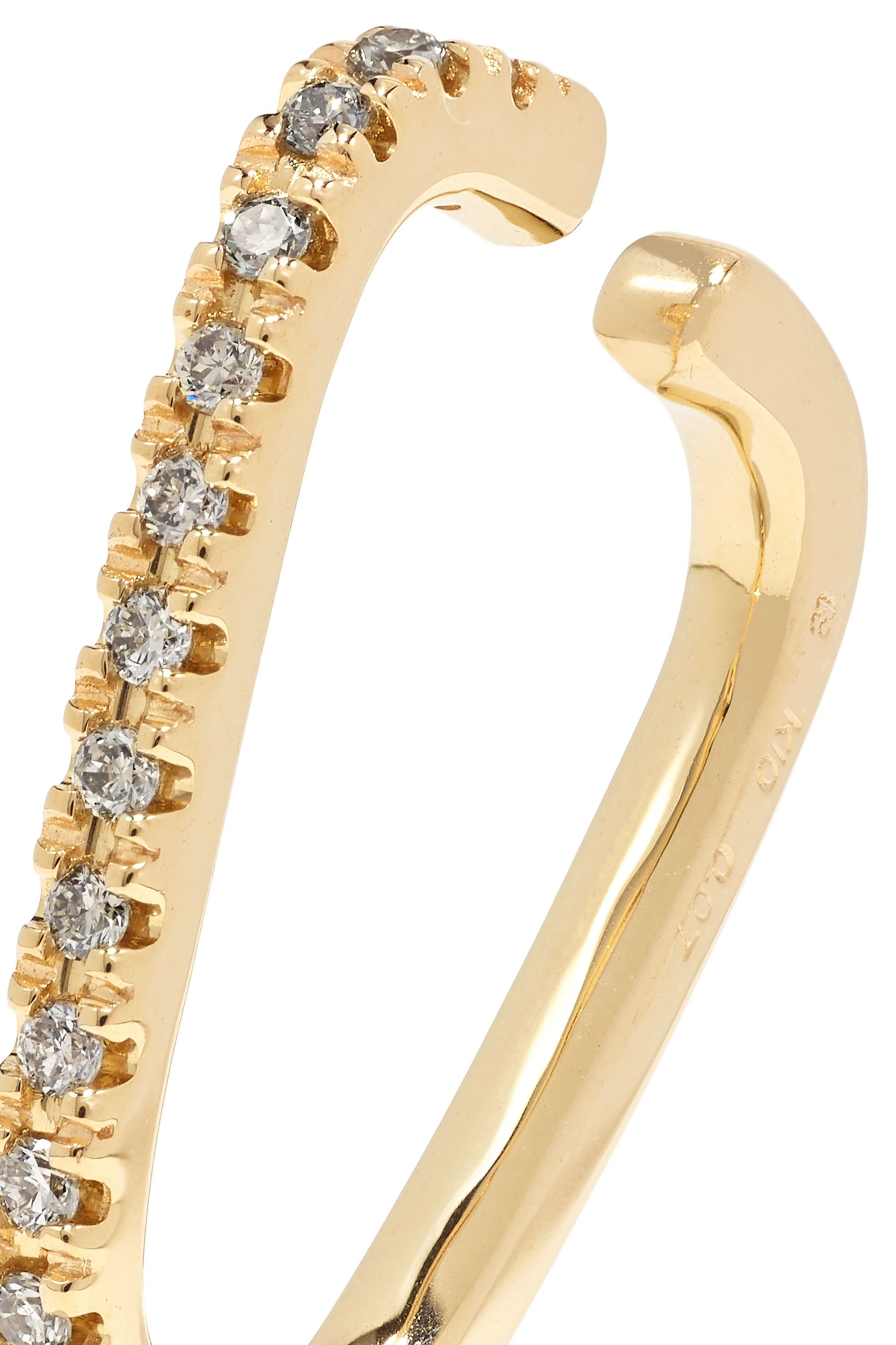 Hirotaka Gossamer 10-karat gold diamond ear cuff