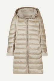 The Cube hooded quilted shell down coat