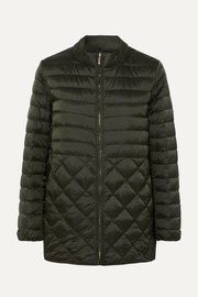 The Cube hooded belted quilted shell down coat