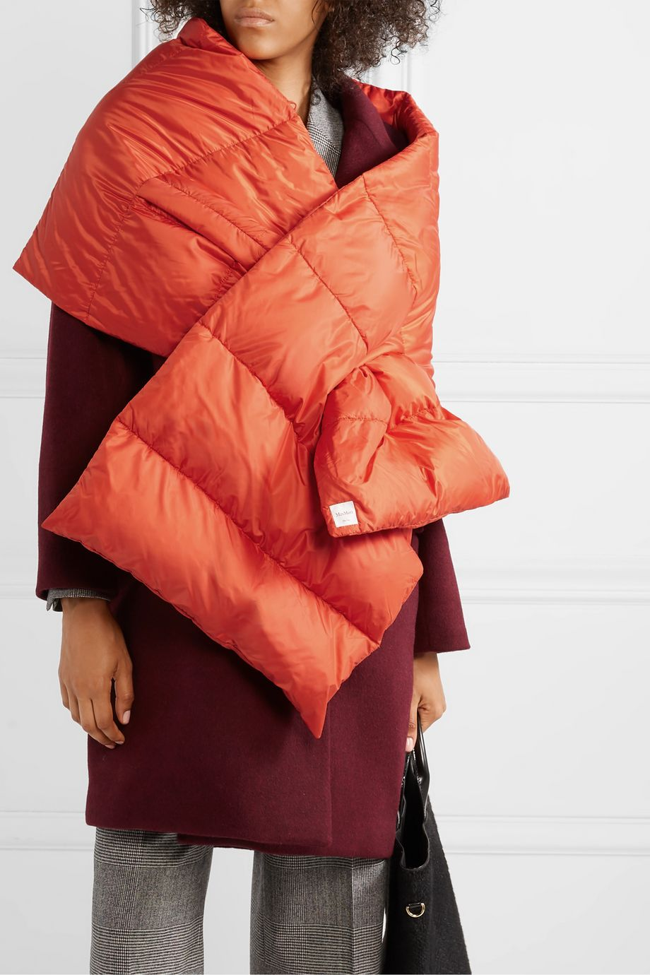 Max Mara The Cube Seisca oversized quilted shell down scarf