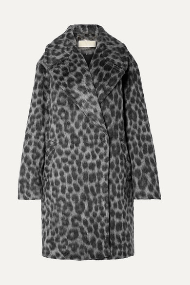 Michael Michael Kors Coats Oversized leopard-print faux fur coat