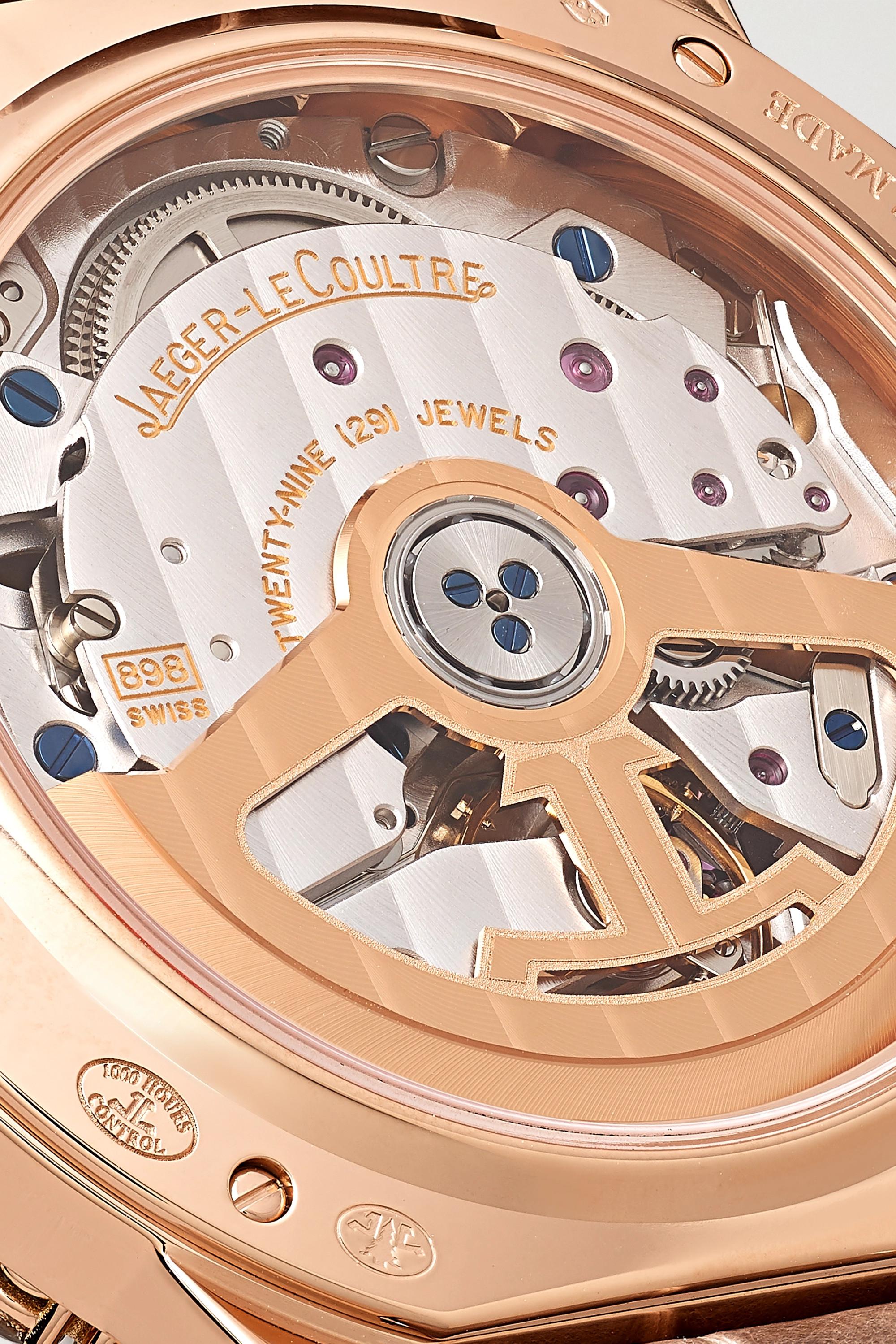 Jaeger-LeCoultre Dazzling Rendez-Vous Night & Day Automatic 36 毫米玫瑰金钻石腕表(短吻鳄鱼皮表带)
