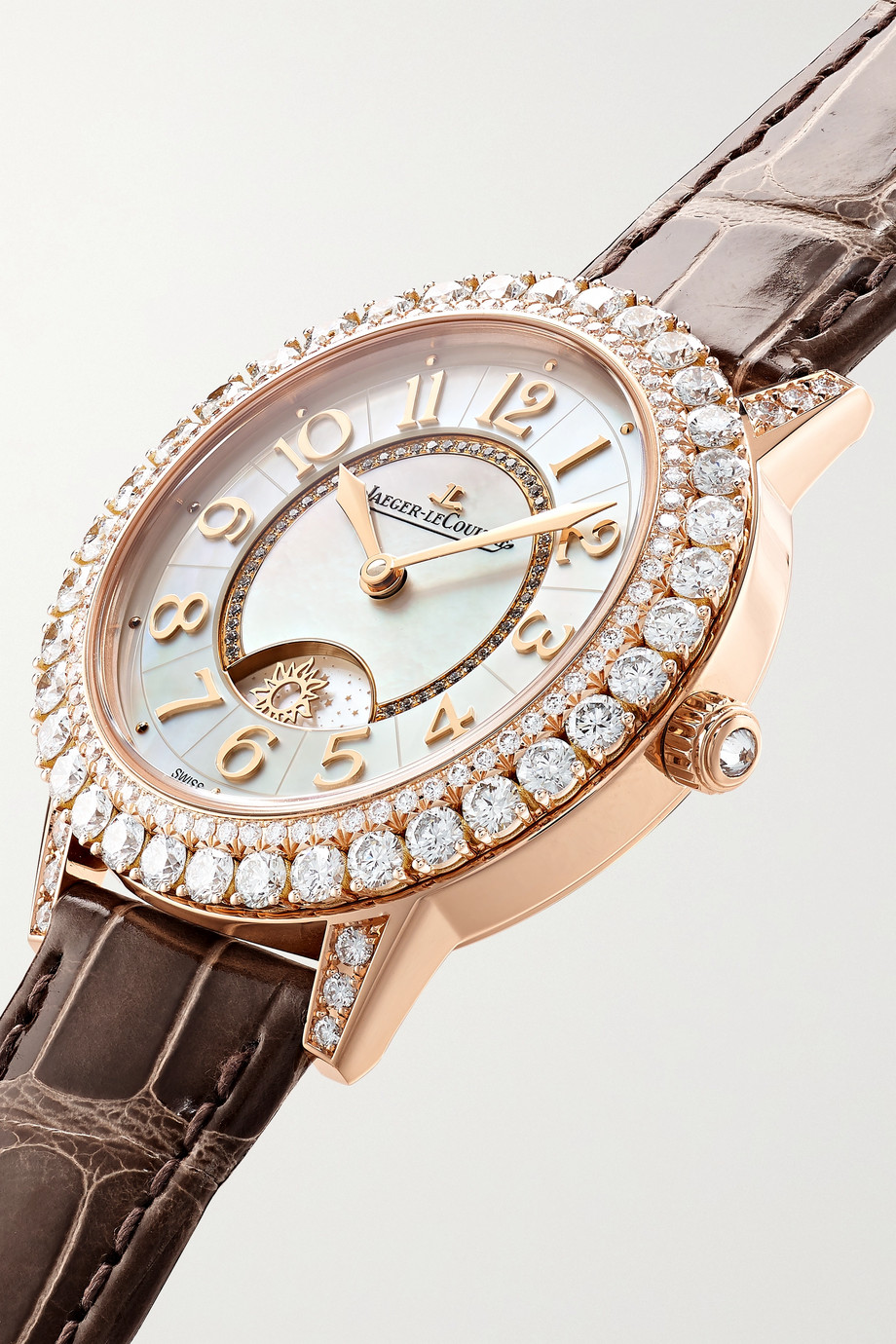 Jaeger-LeCoultre Dazzling Rendez-Vous Night & Day Automatic 36mm rose gold, alligator and diamond watch