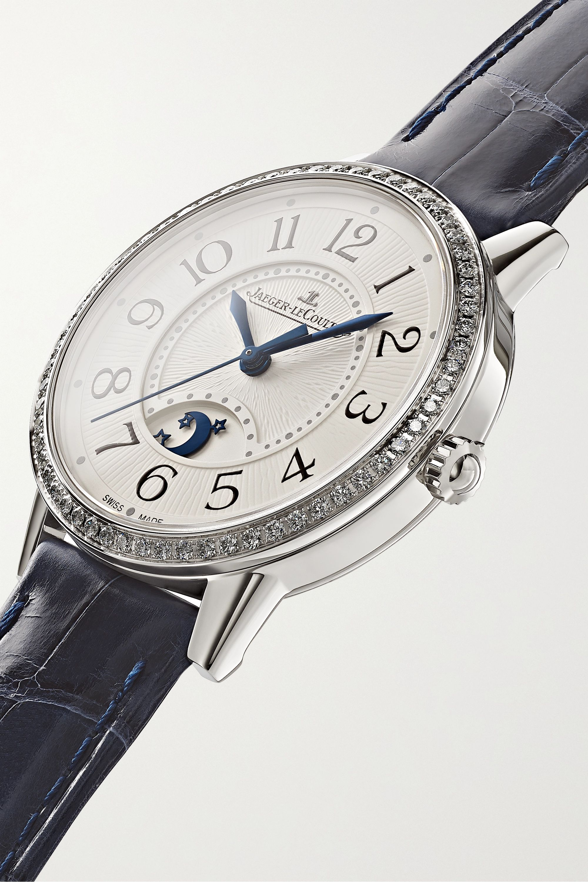 Jaeger-LeCoultre Rendez-Vous Moon Automatic 29mm medium stainless steel, alligator and diamond watch