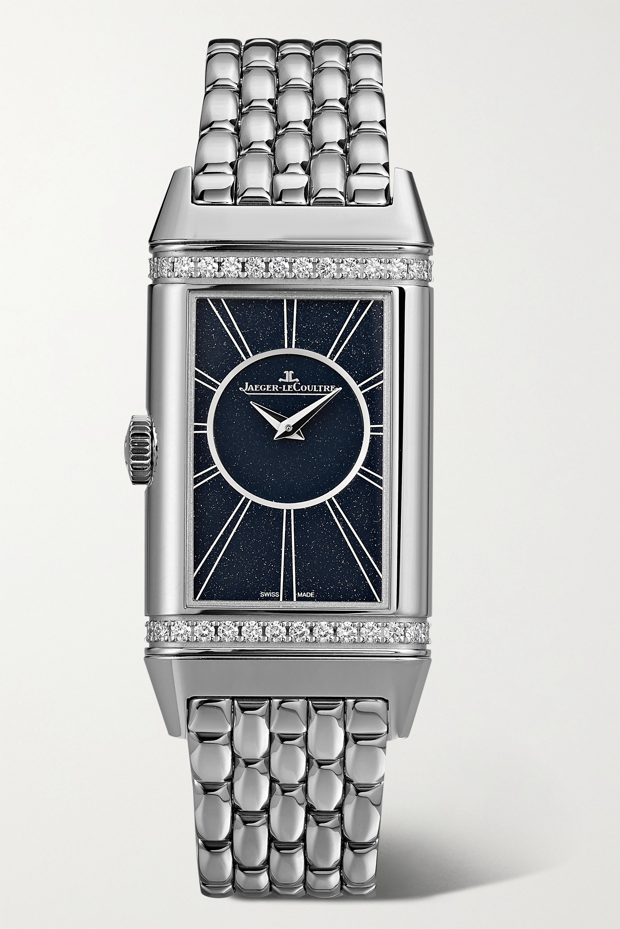 Jaeger-LeCoultre Reverso One Duetto 20mm stainless steel diamond watch