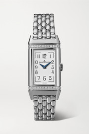 Reverso One Duetto 20mm stainless steel diamond watch