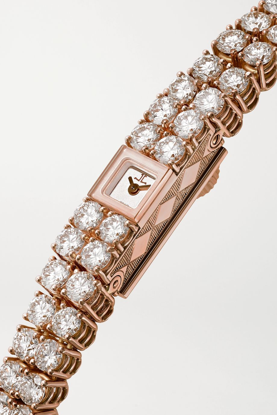 Jaeger-LeCoultre 101 Reine 6.8mm 18-karat rose gold and diamond watch