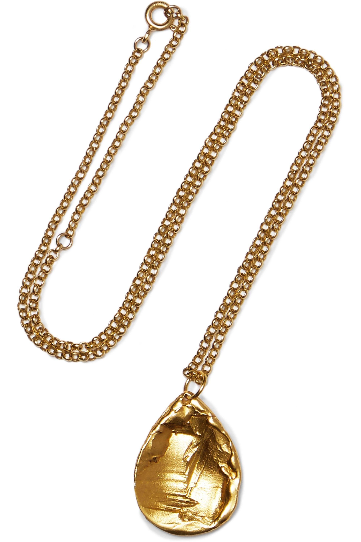 Alighieri Teardrop Necklace embellished satin espadrilles