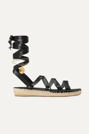 Alighieri Teardrops on the Dancefloor embellished satin espadrilles