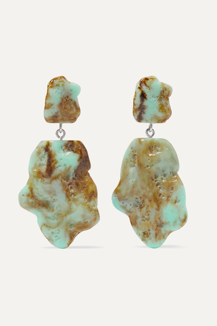 Valet Molly marbled resin earrings