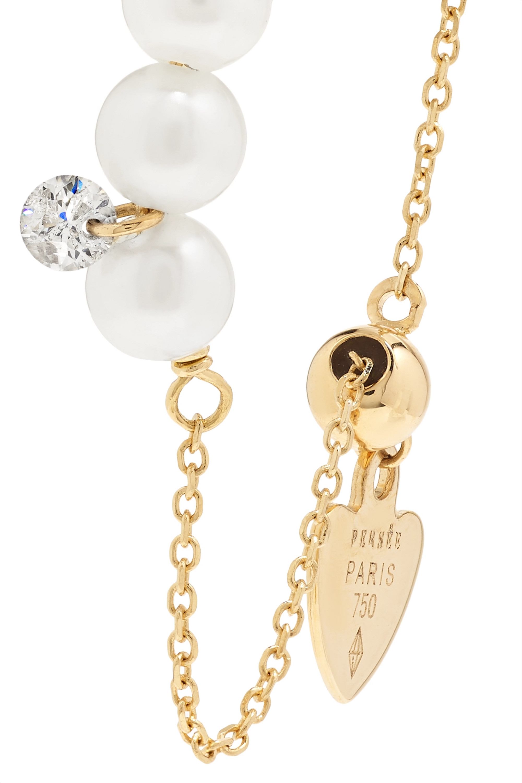 Persée Perlée 18K 黄金、珍珠、钻石戒指