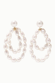 Coco 9-karat gold pearl earrings