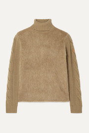 Formia paneled wool-blend and knitted turtleneck sweater