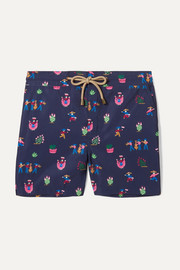 Zeus printed swim shorts