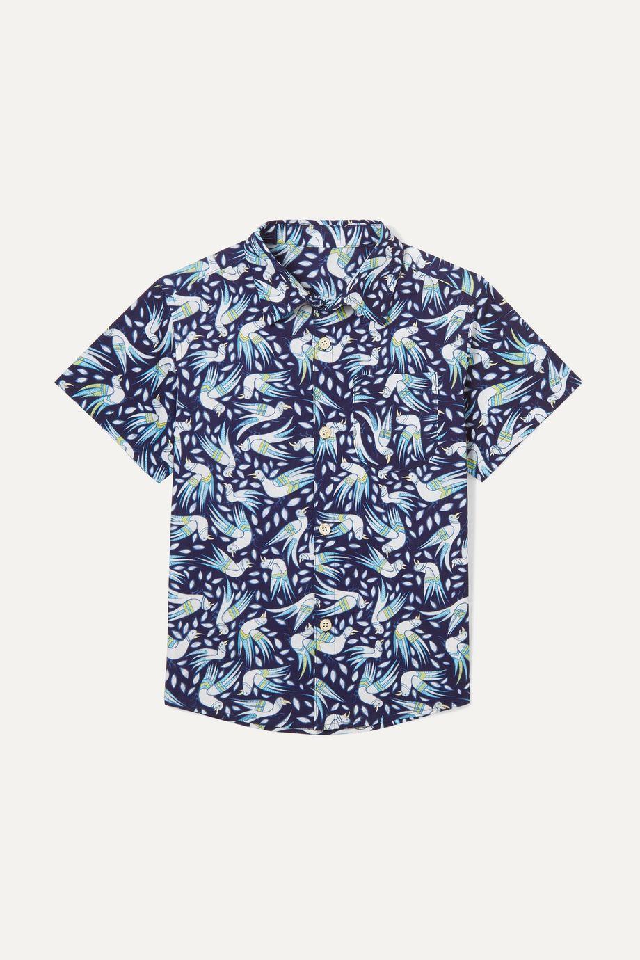 Thorsun Kids Georgie printed cotton-poplin shirt
