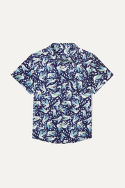 Georgie printed cotton-poplin shirt