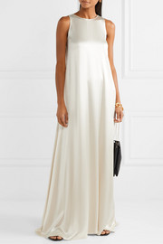 Hammered-satin gown