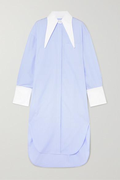 Oversized Pinstriped Twill Dress by Deveaux