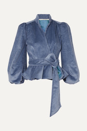 Anna Mason Stella cotton-corduroy wrap jacket