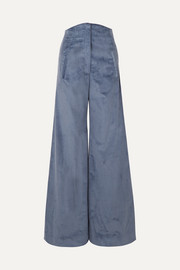 Anna Mason Bay cotton-corduroy wide-leg pants