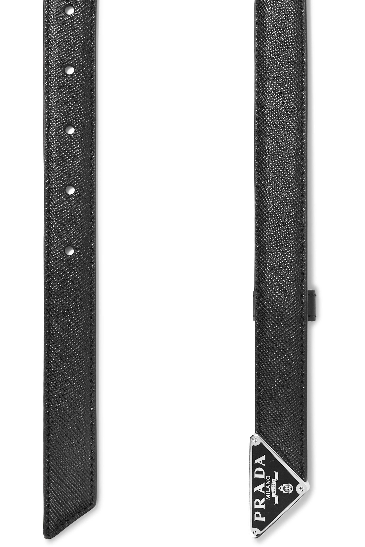 Prada Textured-leather belt