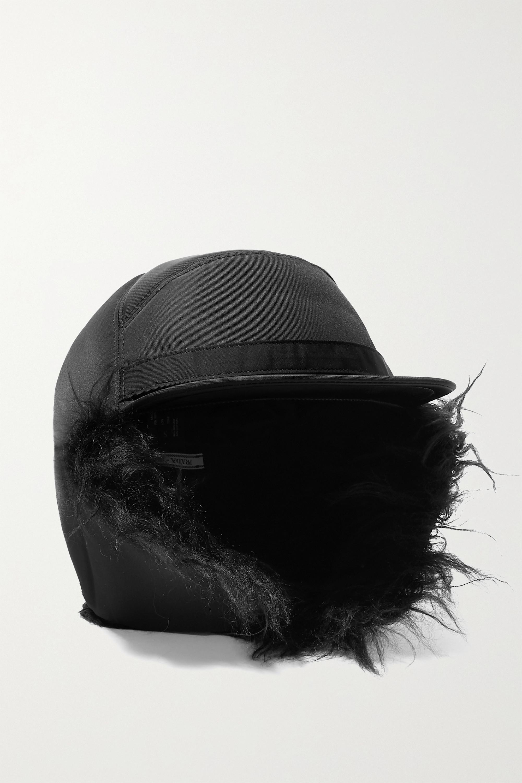 Prada Mohair blend-trimmed nylon cap