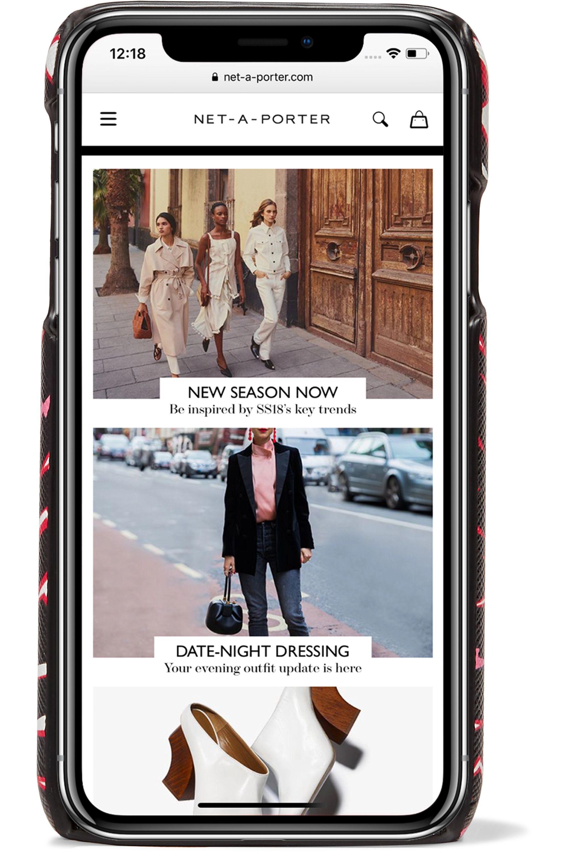 Prada Printed textured-leather iPhone XR case