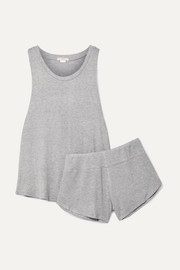 Eberjey Elon ribbed-knit pajama set
