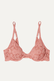 Naya stretch-lace underwired plunge bra