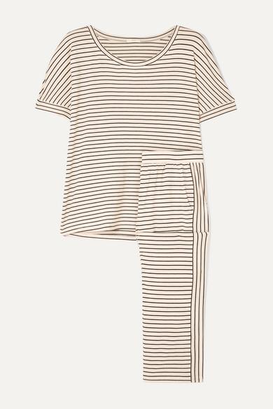Vega Striped Stretch Jersey Pajama Set by Eberjey
