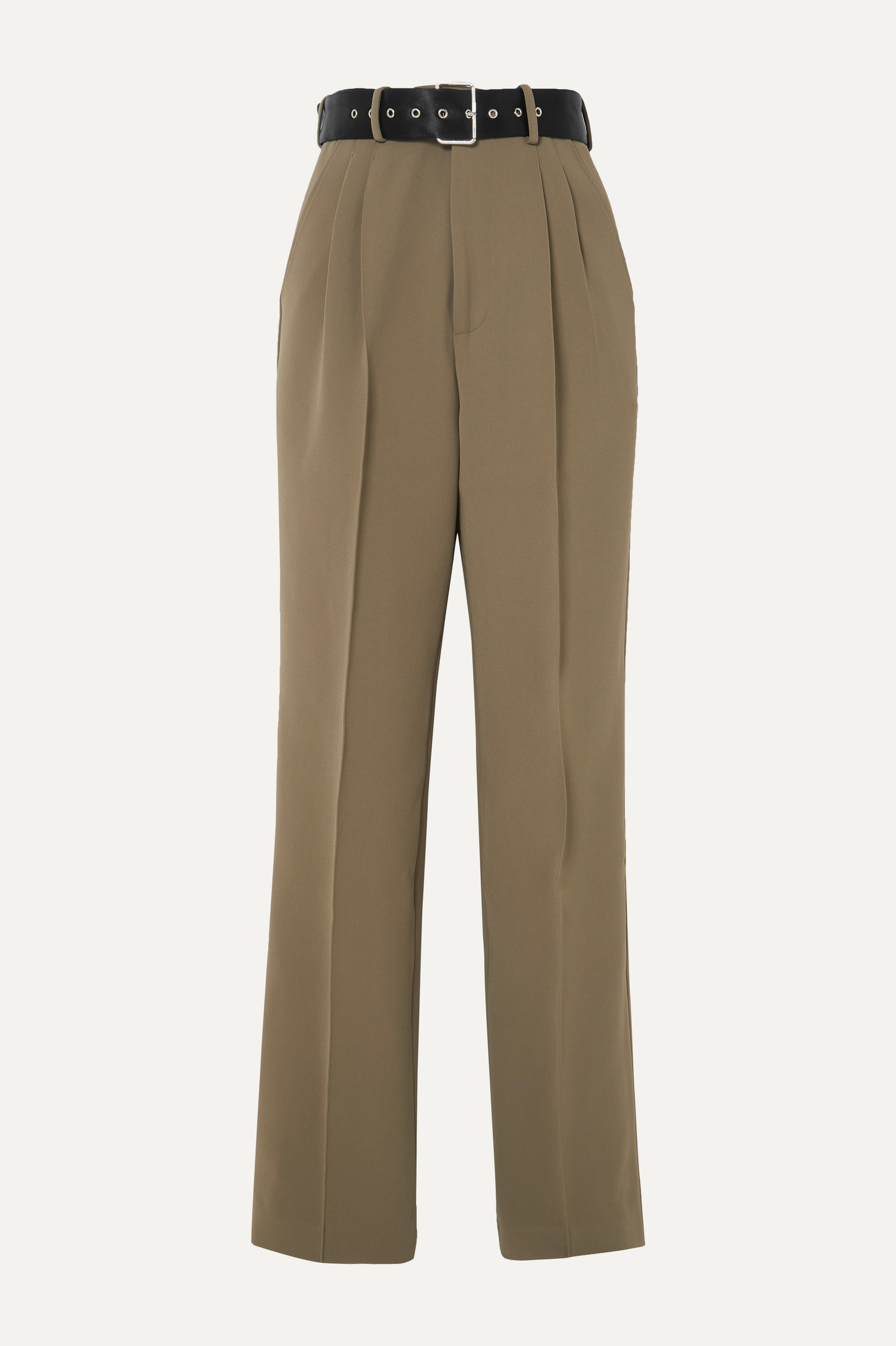 Peter Do Belted crepe tapered pants