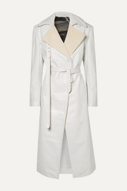Peter Do Canvas-trimmed leather trench coat