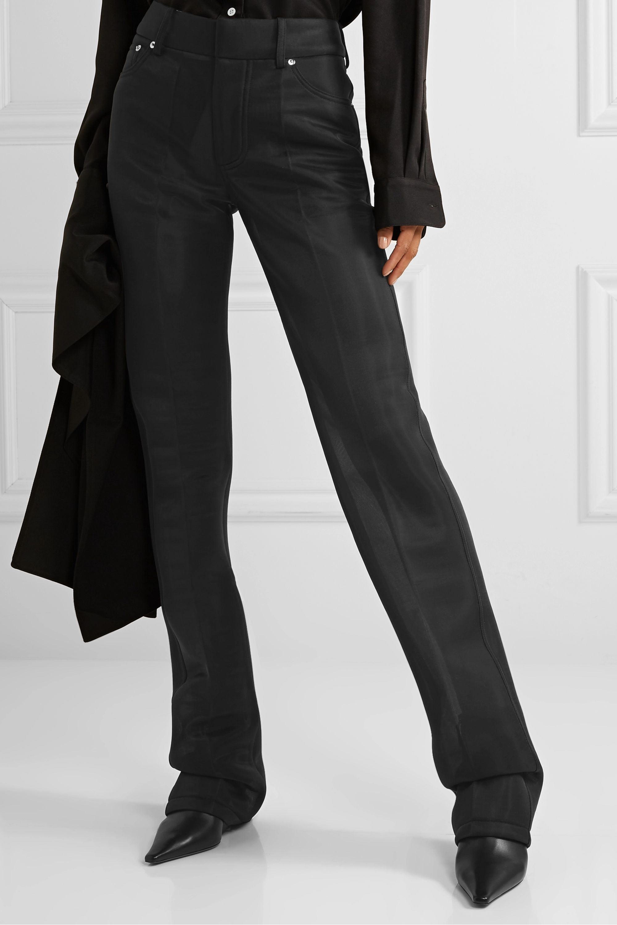 Peter Do Pantalon droit en organza