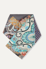 Etro Paisley-print quilted shell down scarf