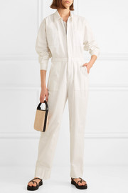 + NET SUSTAIN cotton-canvas jumpsuit