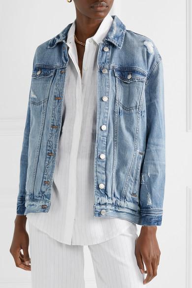 Madewell Jackets Oversized distressed denim jacket