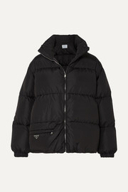 Prada Hooded quilted nylon down coat