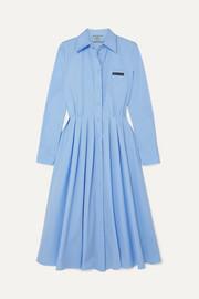 프라다 플리츠 셔츠 원피스 Prada Pleated cotton shirt dress