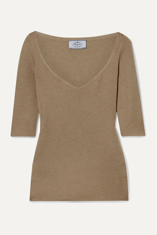 Prada Cashmere and silk-blend sweater