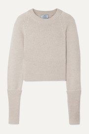 Prada Cropped cashmere sweater