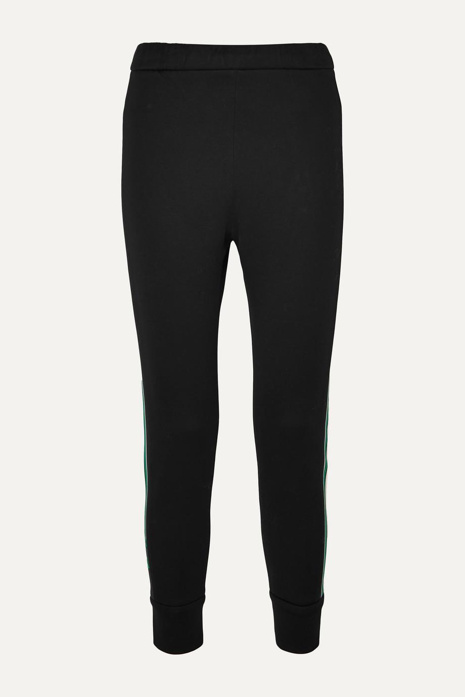Prada Striped cotton-blend jersey track pants