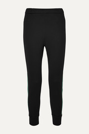 Prada Striped cotton-blend jersey track pants