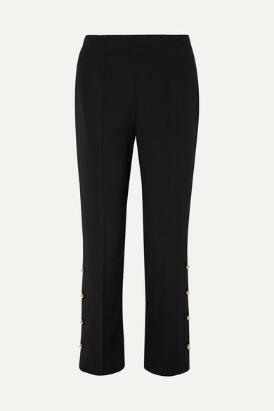 a4137a74e6b55 Button-embellished crepe wide-leg pants
