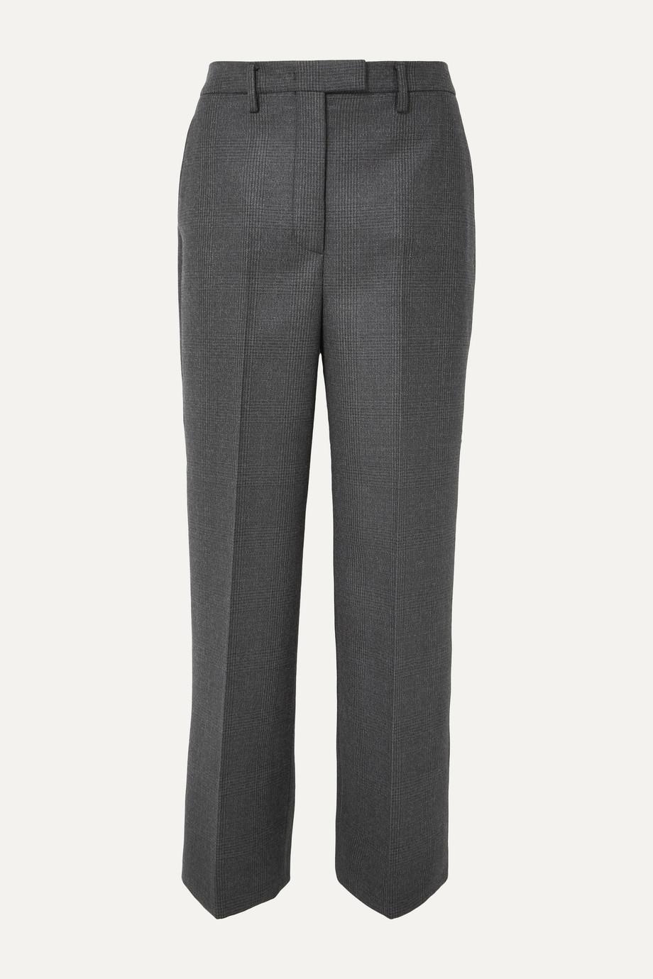 Prada Hose mit geradem Bein aus einer karierten Schurwollmischung