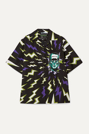 Prada Oversized printed cotton-poplin shirt