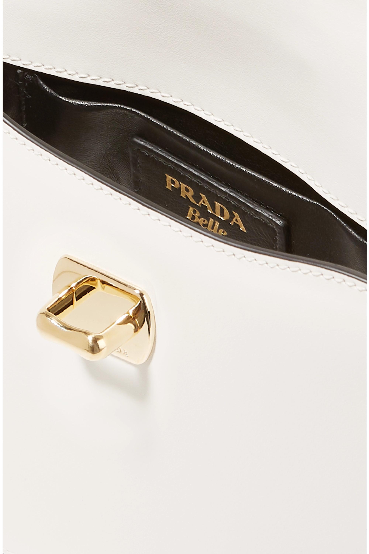 White Belle Small Leather Shoulder Bag | Prada
