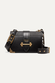 Prada Cahier large leather shoulder bag